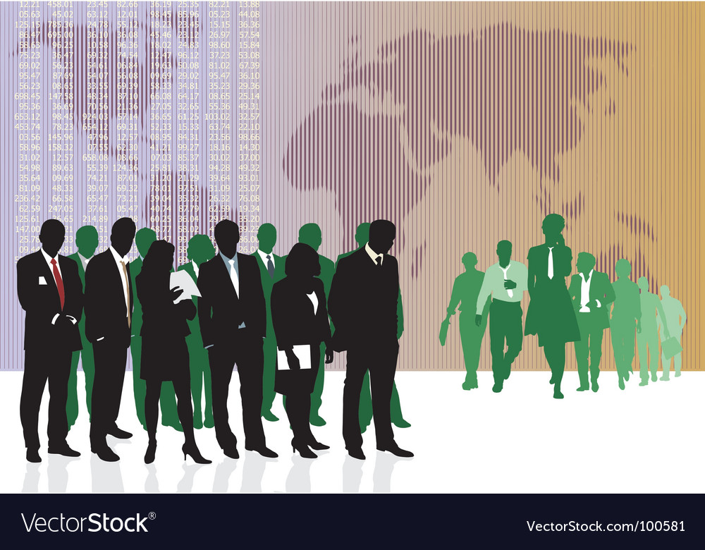 World business traders vector | Price: 1 Credit (USD $1)