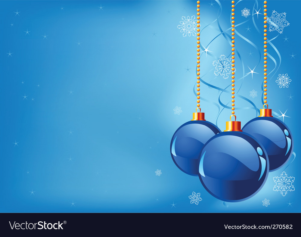 Abstract blue christmas background vector | Price: 1 Credit (USD $1)