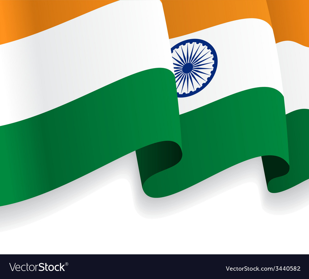 Background with waving indian flag vector | Price: 1 Credit (USD $1)