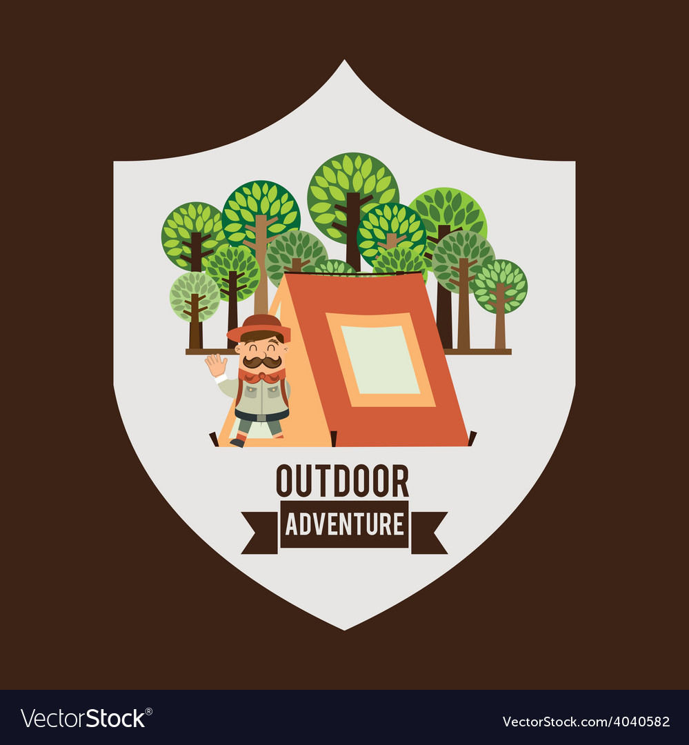 Camping adventure vector | Price: 1 Credit (USD $1)