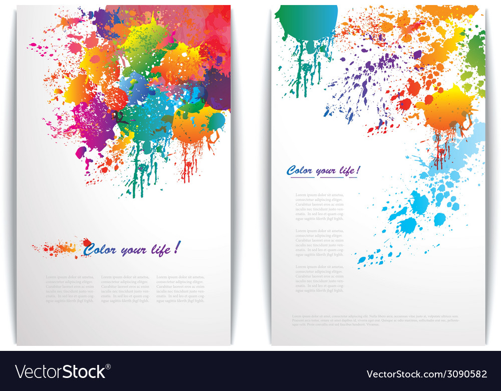 Colorful splash banners vector