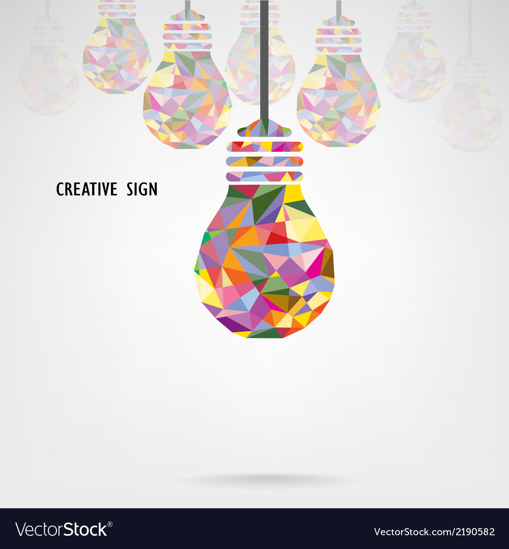 Creative light bulb background vector | Price: 1 Credit (USD $1)