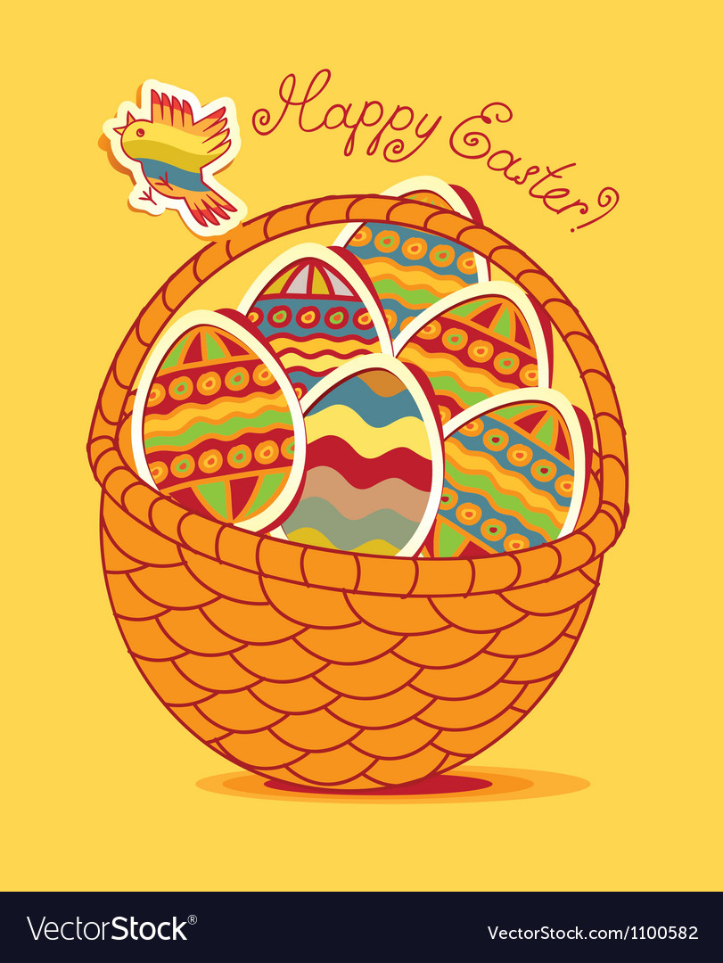 Egg basket vector | Price: 1 Credit (USD $1)