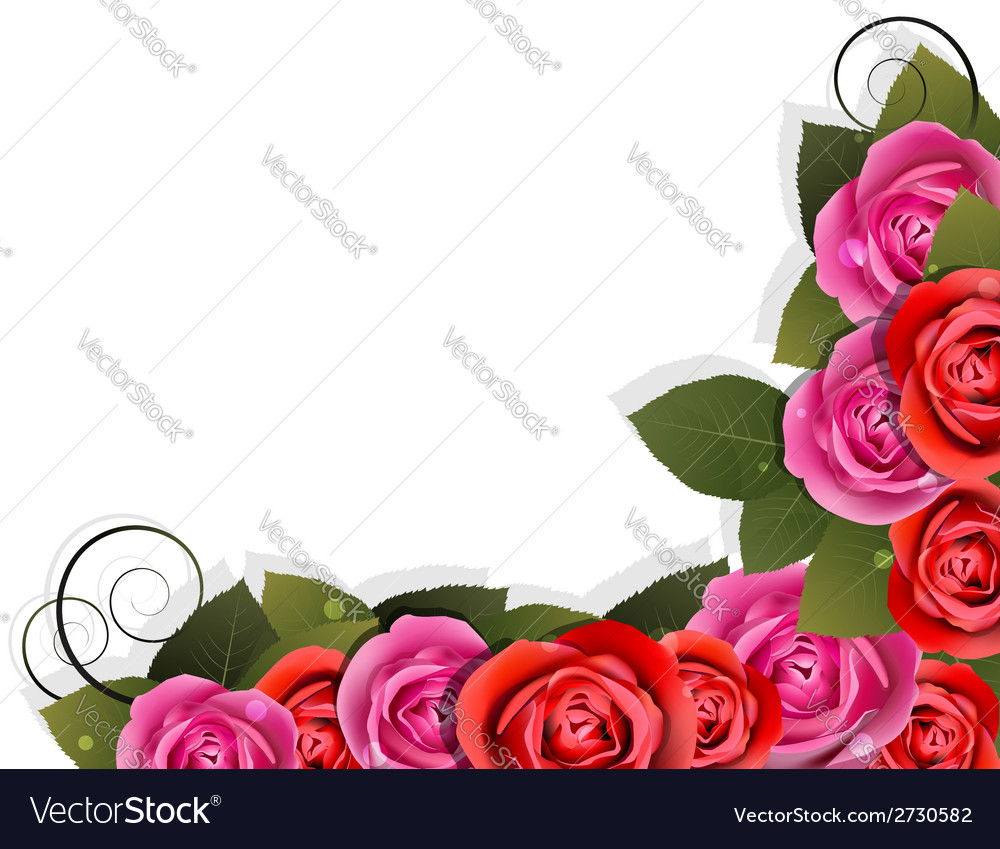 Flower corner vector | Price: 1 Credit (USD $1)