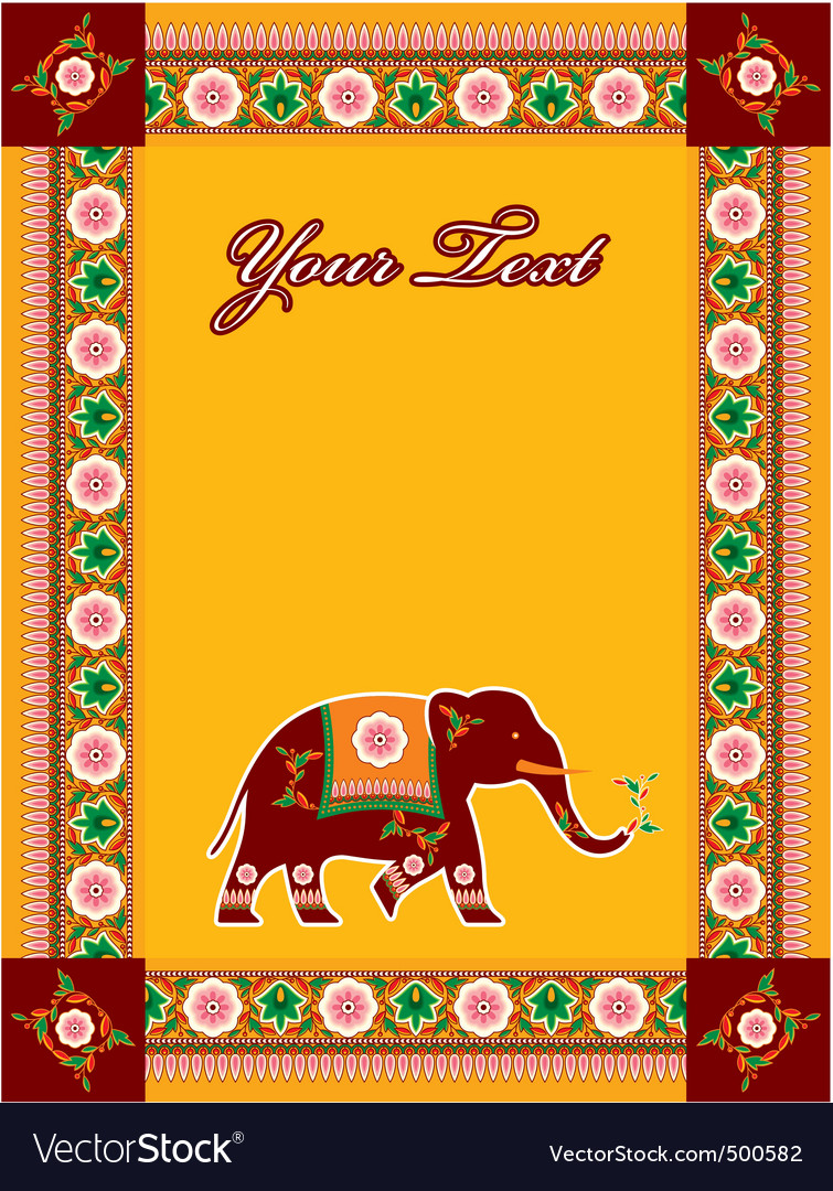 Hindu template with elephant vector | Price: 3 Credit (USD $3)