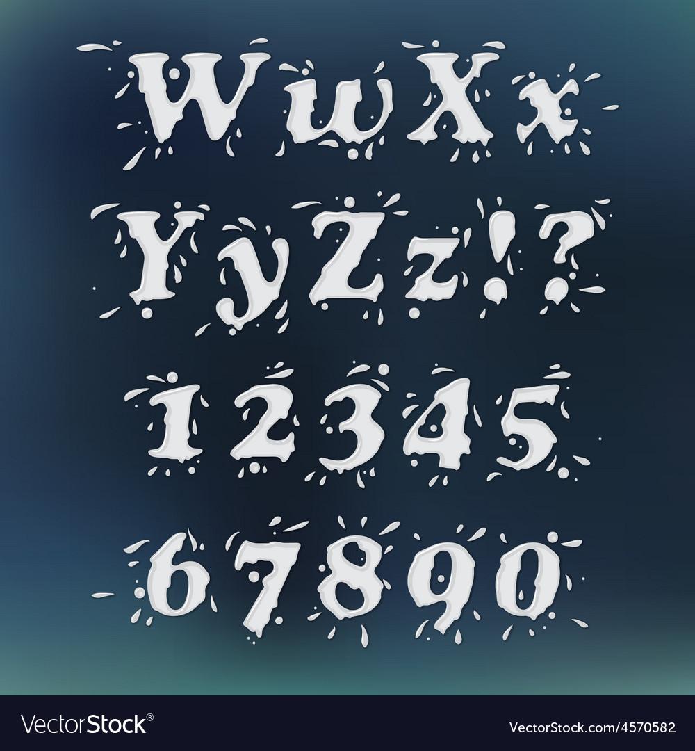 Milk splash font vector   Price: 1 Credit (USD $1)