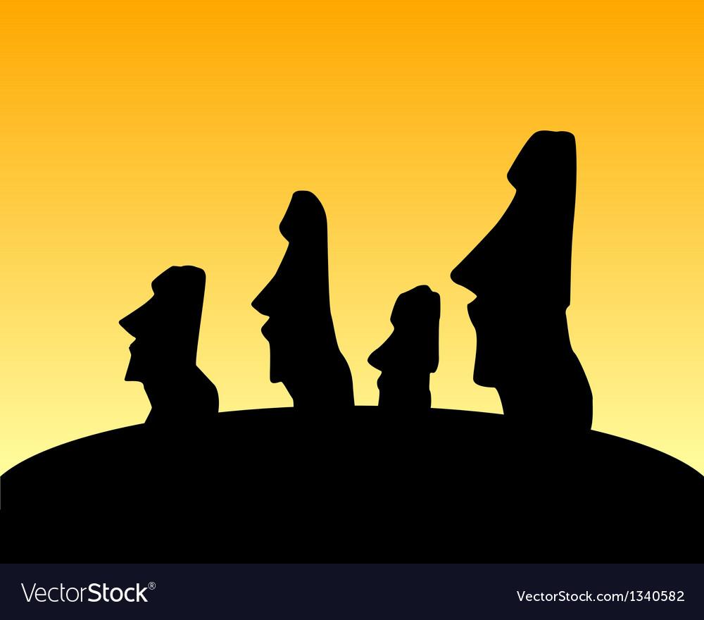 Moai statues vector | Price: 1 Credit (USD $1)