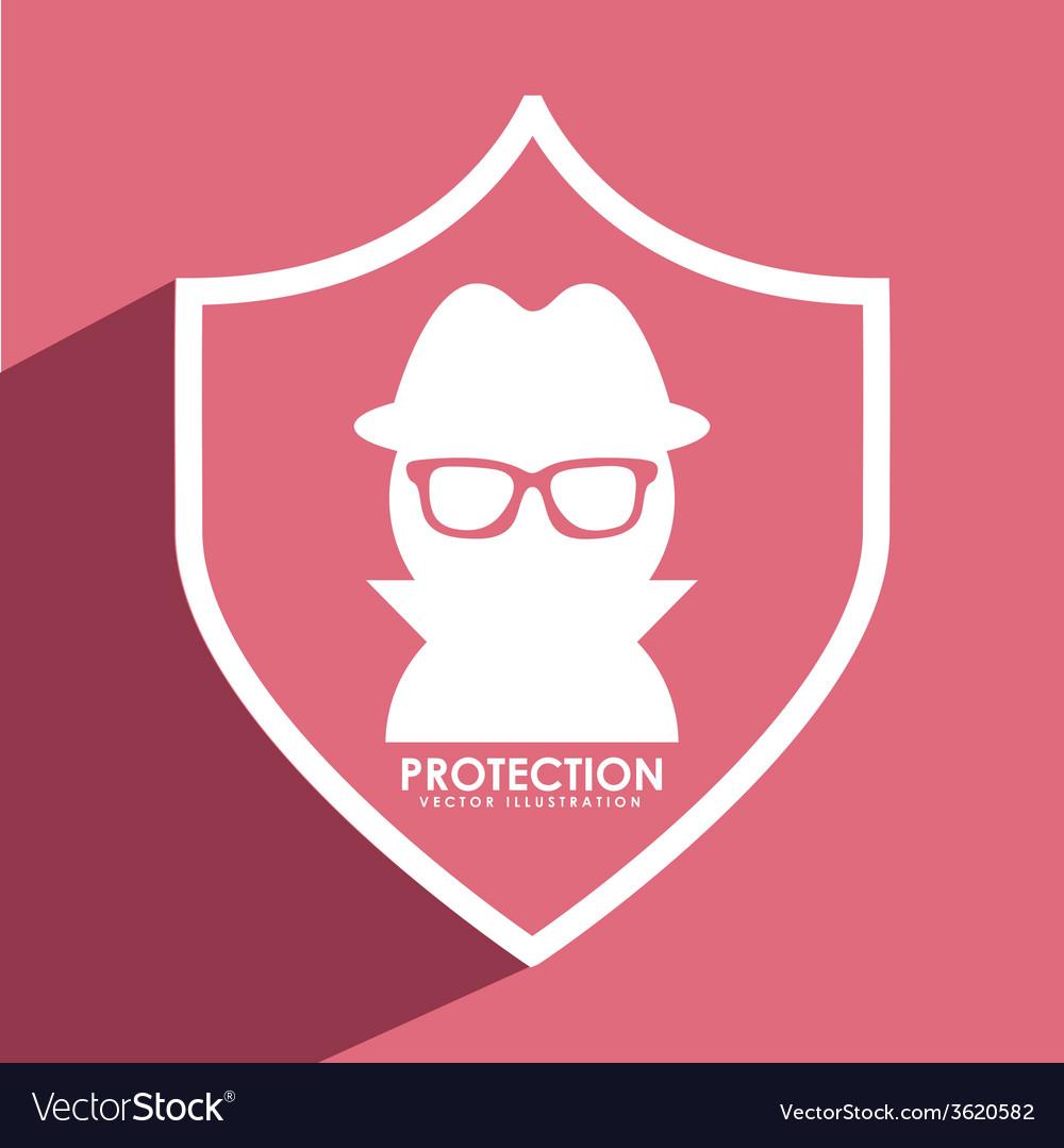 Spy shield vector | Price: 1 Credit (USD $1)