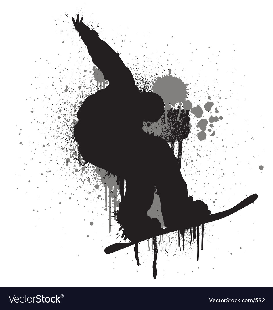 Stencil snowboarder vector | Price: 1 Credit (USD $1)