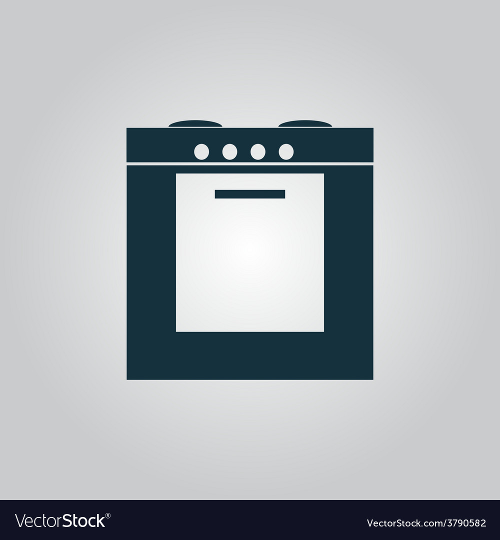 Stove icon sign and button vector | Price: 1 Credit (USD $1)
