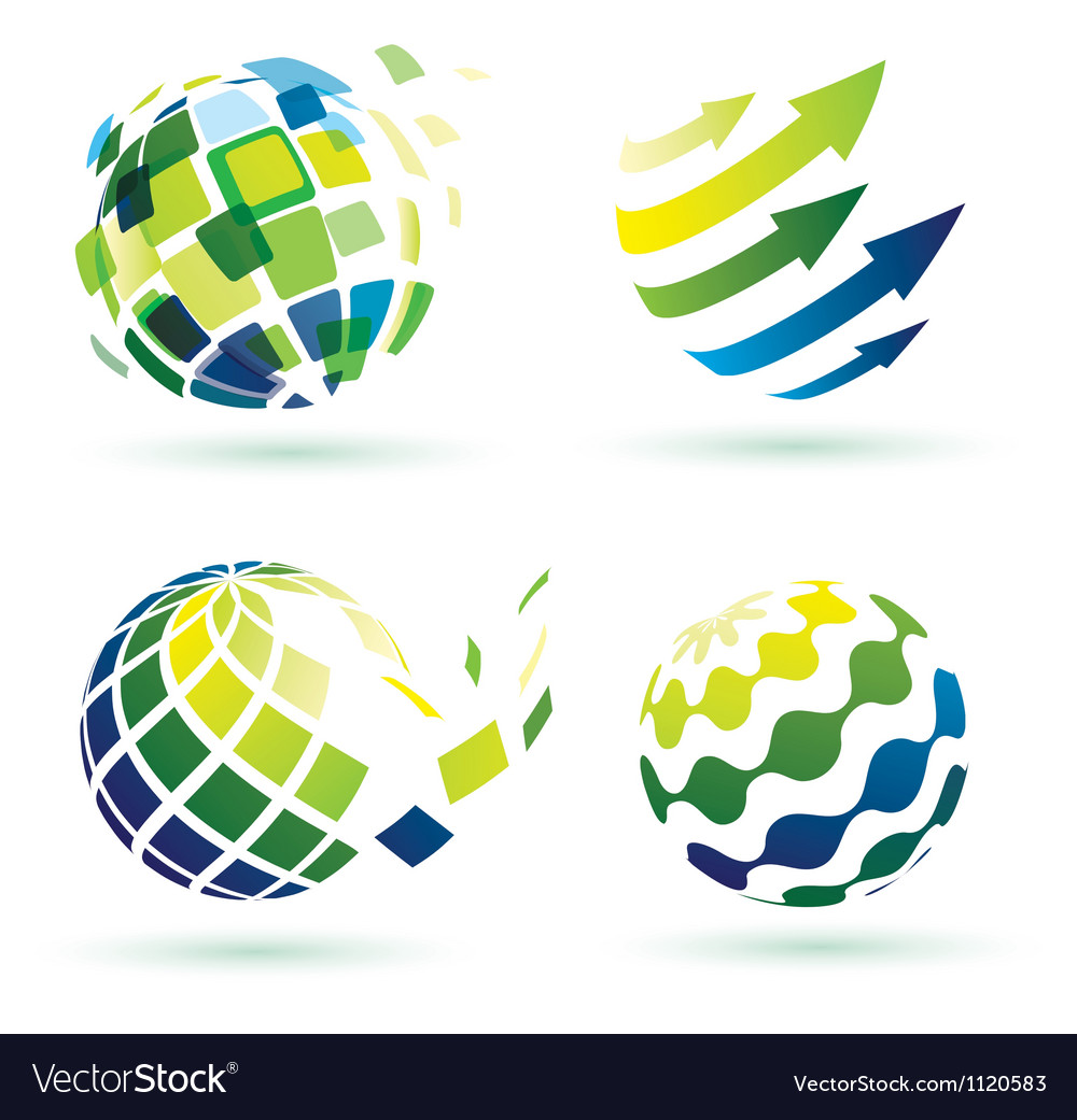 Abstract globe icons vector