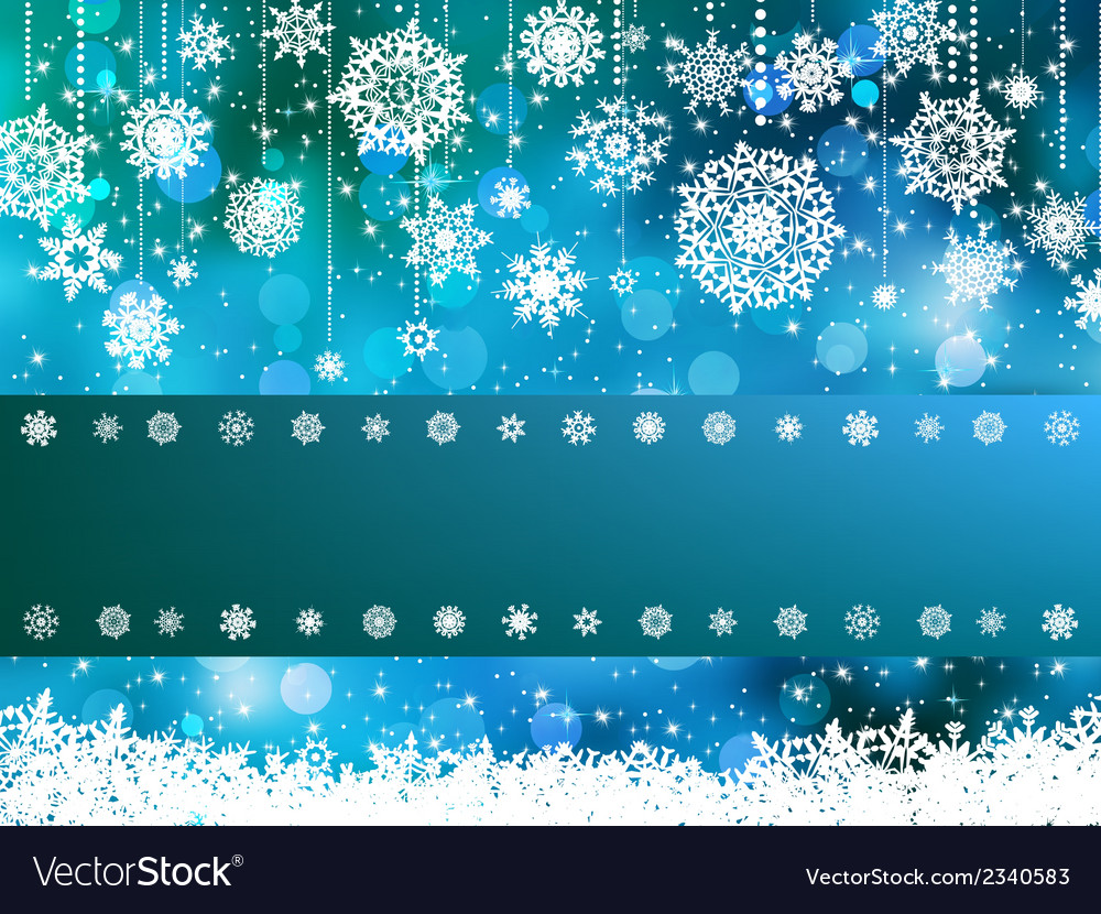Blue bokeh of christmas lights eps 8 vector | Price: 1 Credit (USD $1)
