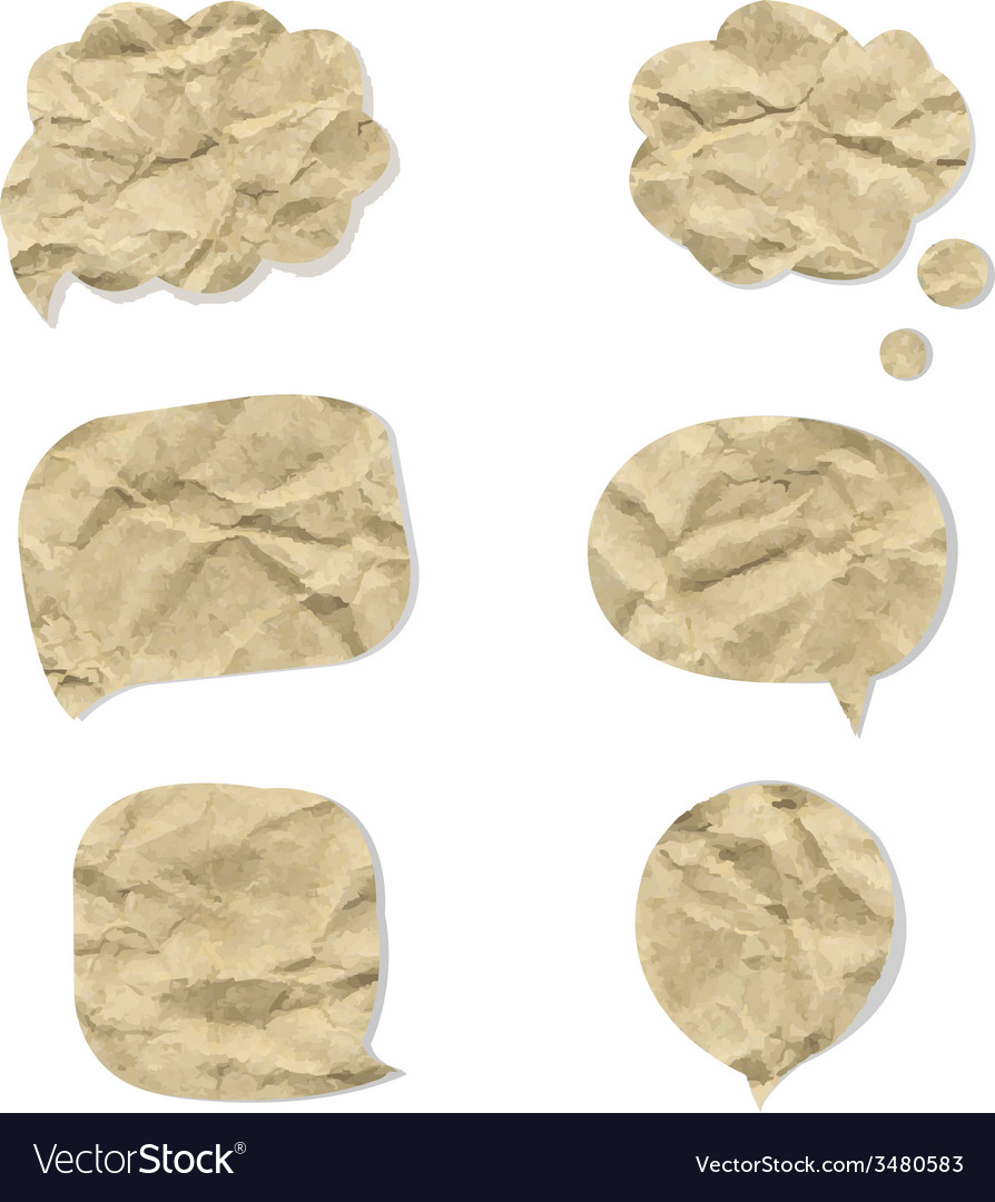 Cardboard speech bubbles vector | Price: 1 Credit (USD $1)