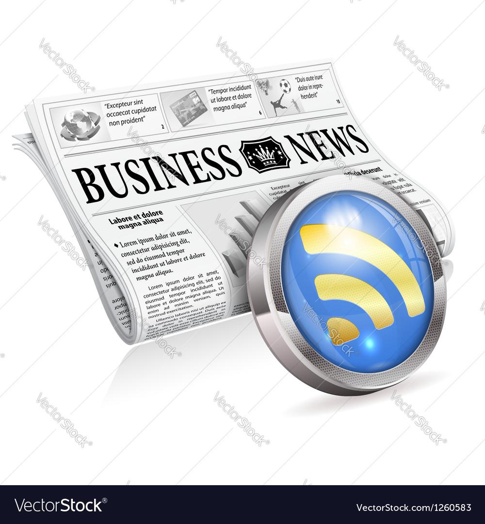Digital news concept vector | Price: 3 Credit (USD $3)