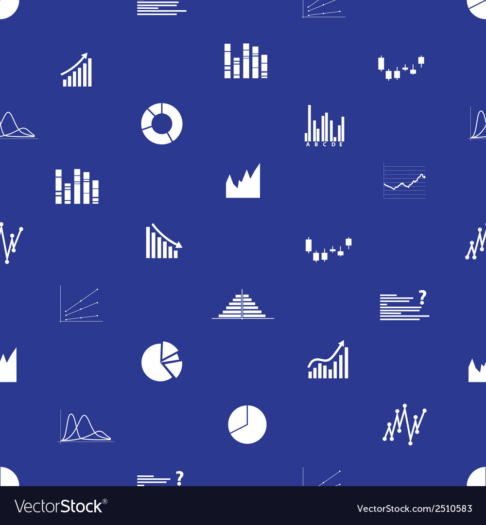 Graphs icons seamless pattern eps10 vector | Price: 1 Credit (USD $1)