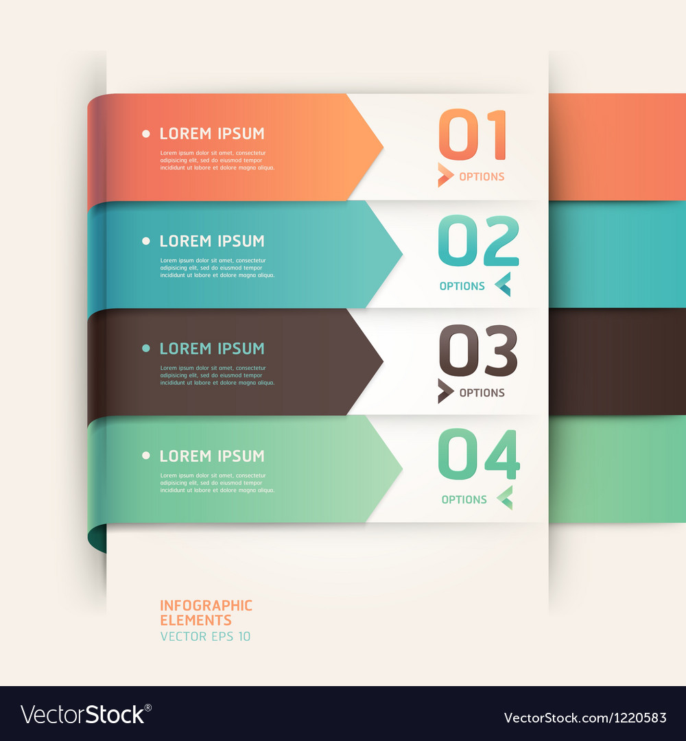 Modern arrow origami style options banner vector | Price: 3 Credit (USD $3)