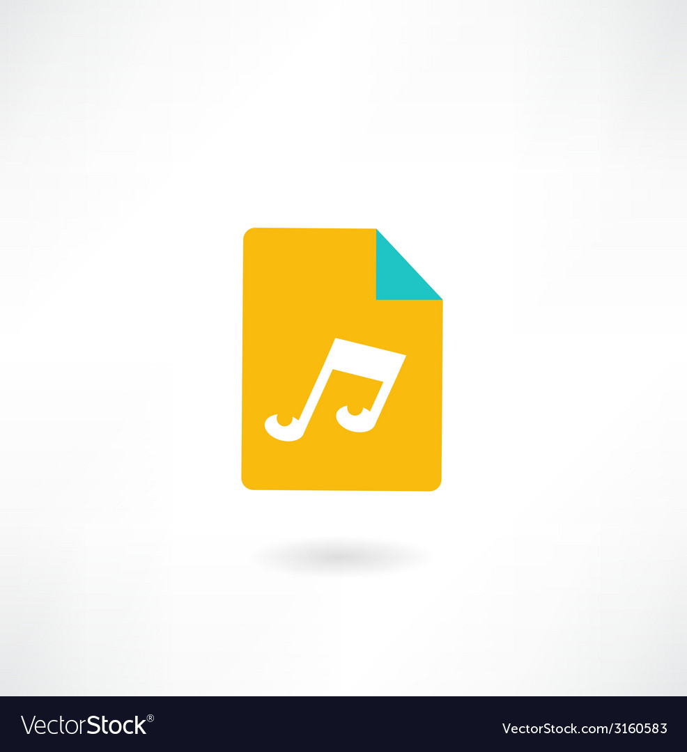 Music folder vector | Price: 1 Credit (USD $1)