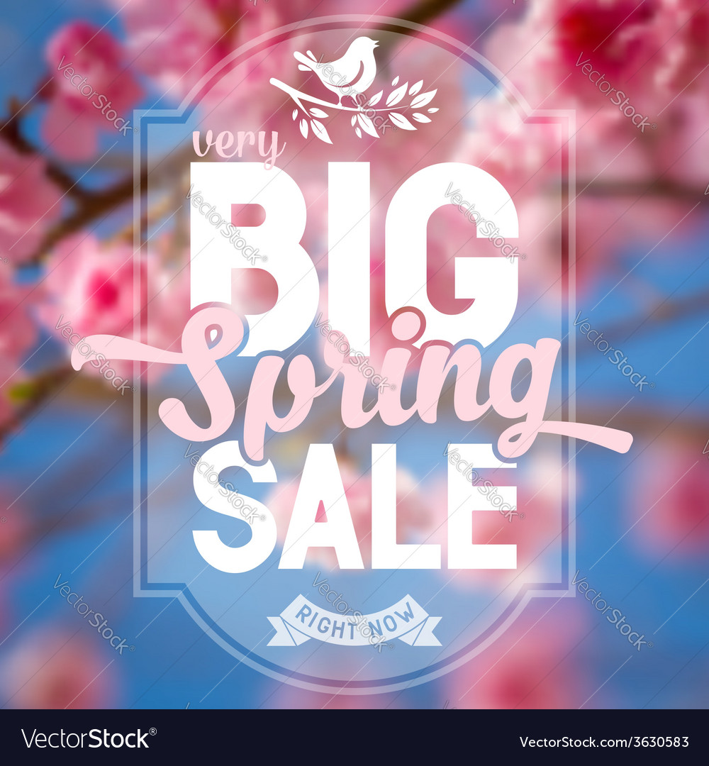 Spring sale vector | Price: 1 Credit (USD $1)