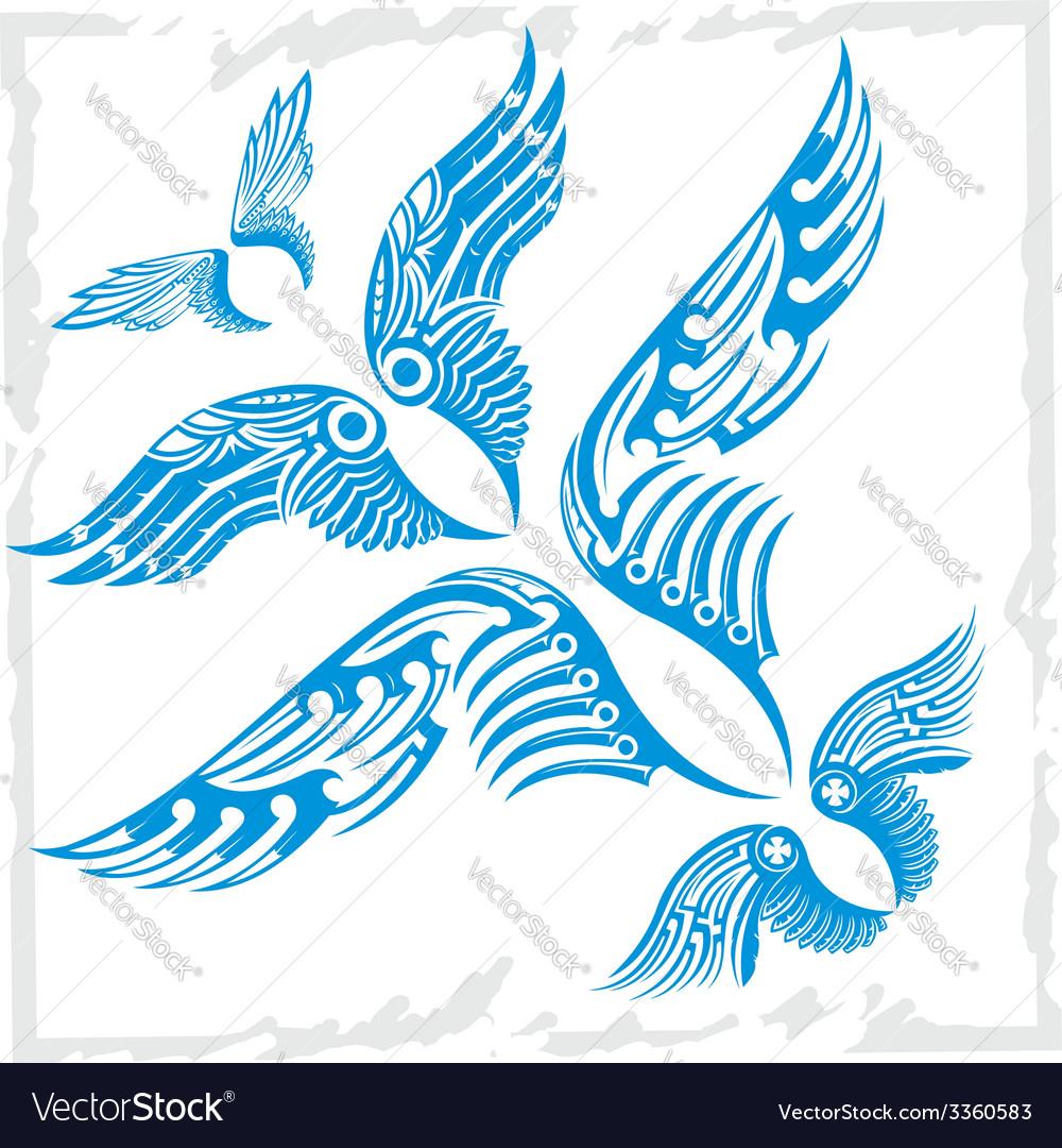 Wings set vinyl-ready vector | Price: 1 Credit (USD $1)