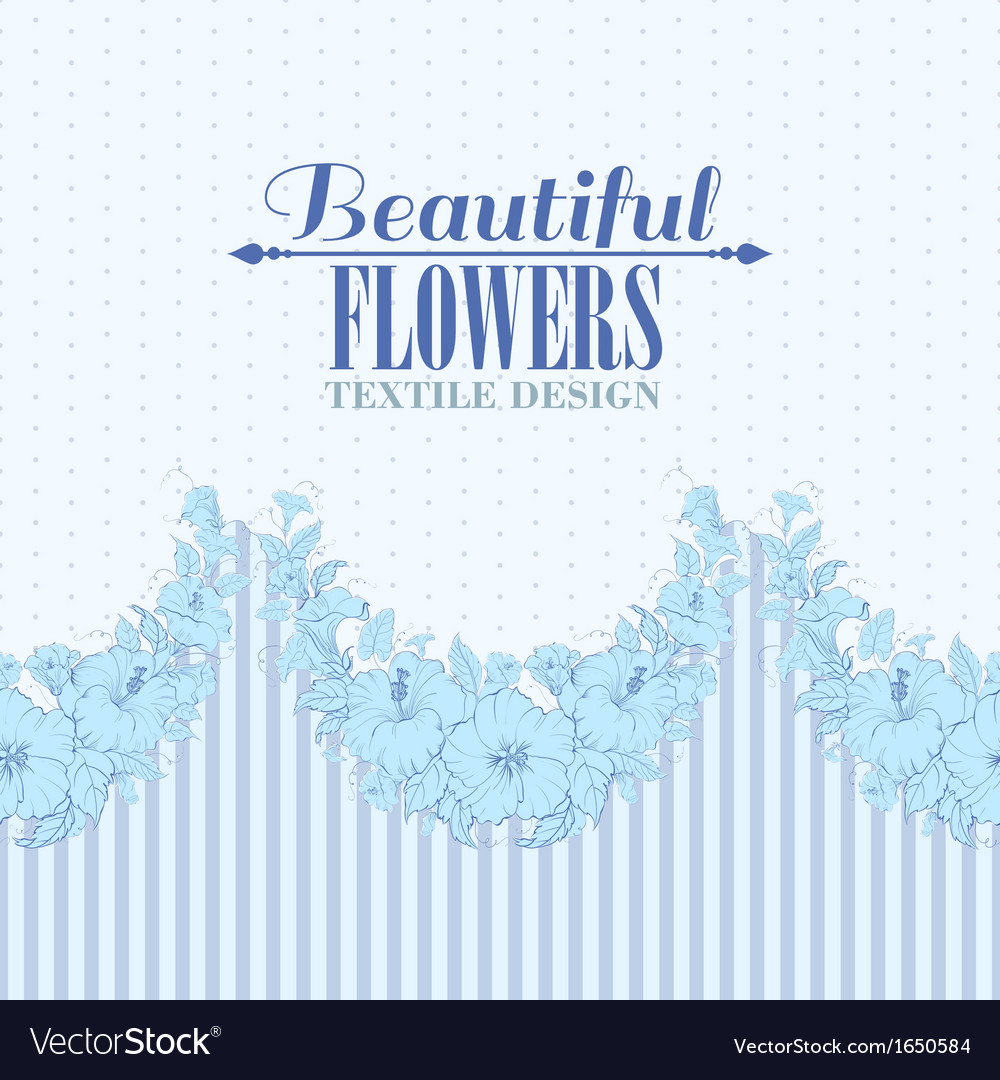 Blue flower seamless pattern vector | Price: 1 Credit (USD $1)