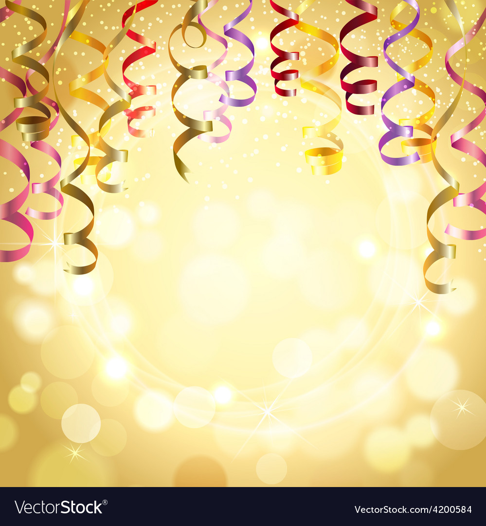 Celebration background with streamers vector | Price: 1 Credit (USD $1)