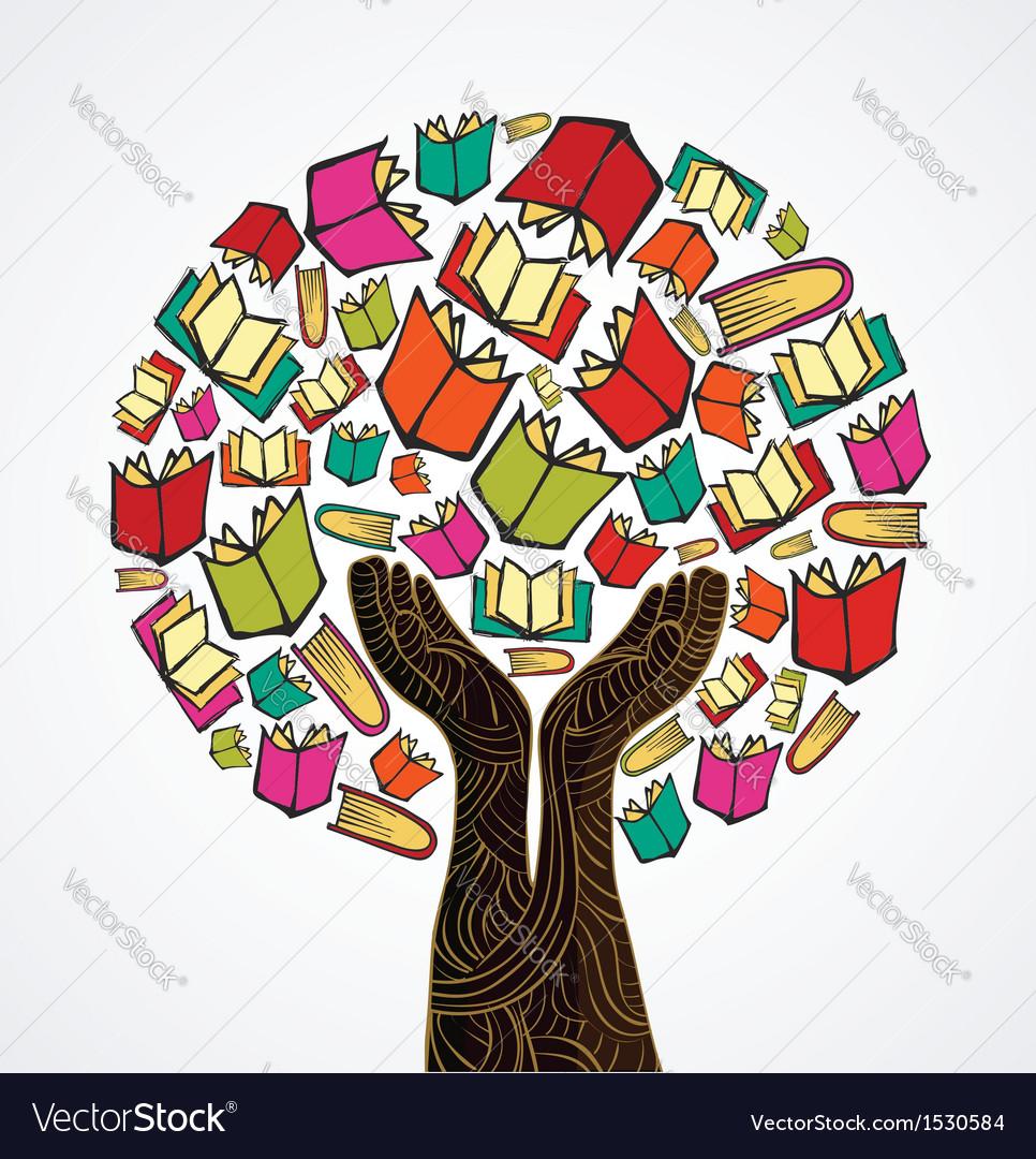 Concept design books tree vector | Price: 1 Credit (USD $1)