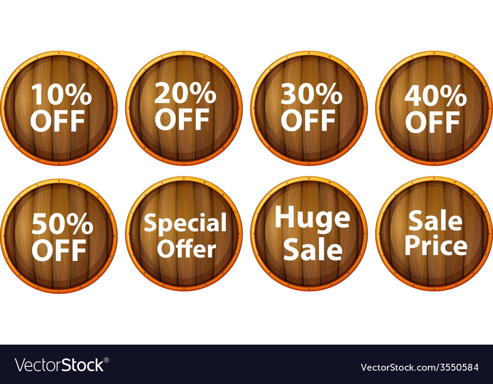 Discount signs vector | Price: 1 Credit (USD $1)