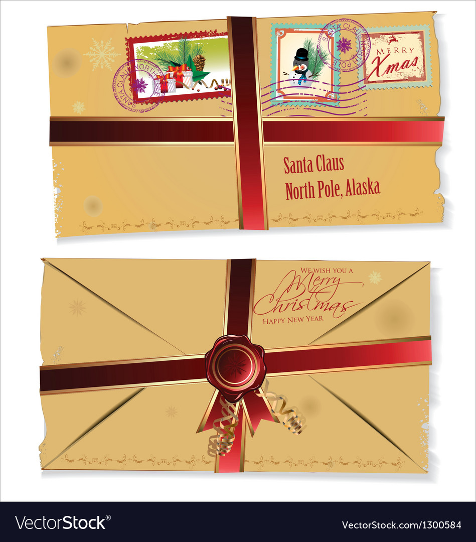 Letter for santa claus vector | Price: 1 Credit (USD $1)