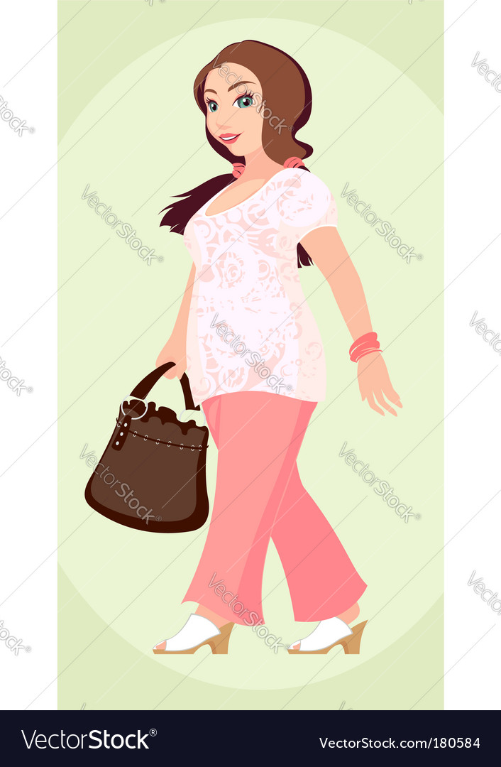 Plus size fashion girl vector | Price: 3 Credit (USD $3)