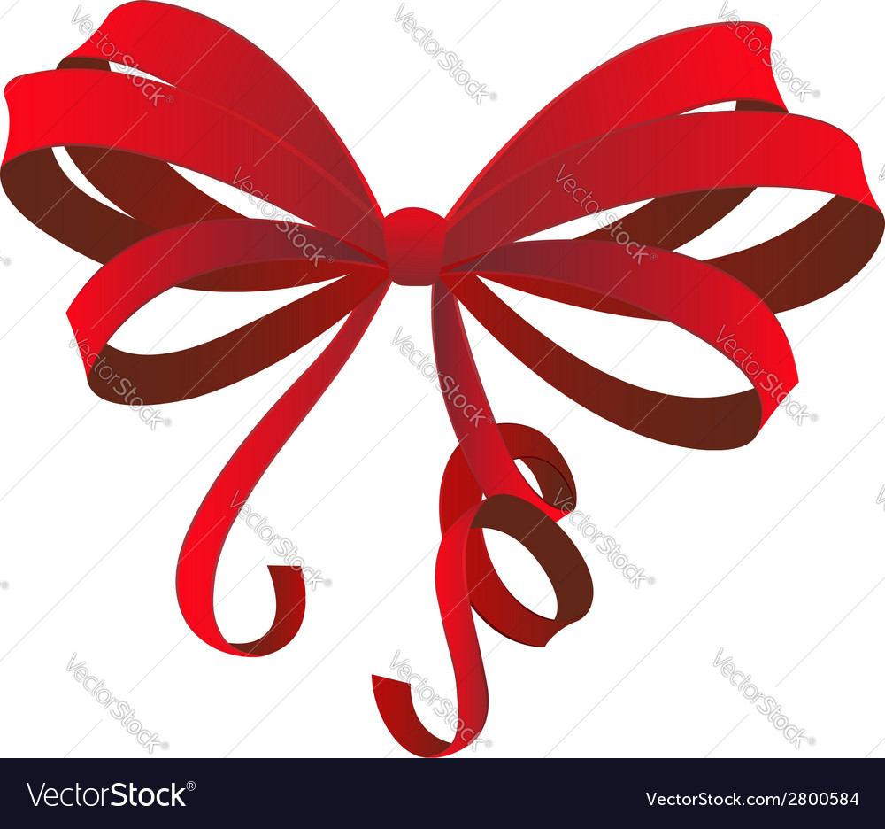 Red gift bow vector   Price: 1 Credit (USD $1)