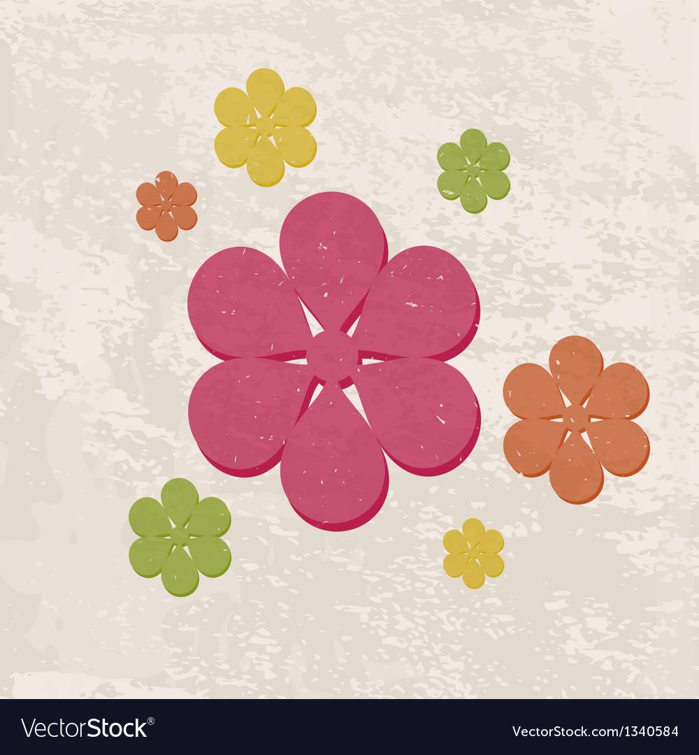 Retro floral background vector   Price: 1 Credit (USD $1)