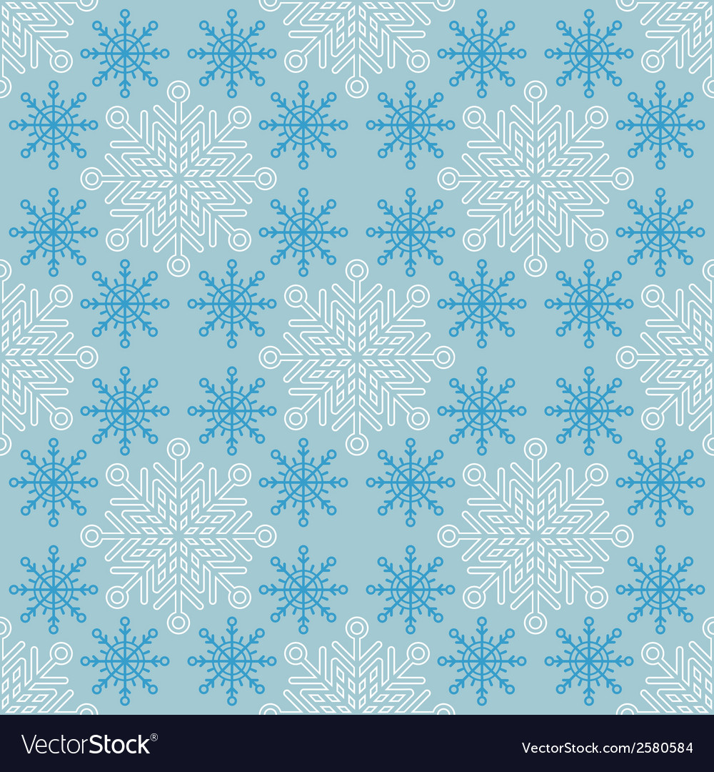 Seamless christmas pattern with snowflakes vector | Price: 1 Credit (USD $1)