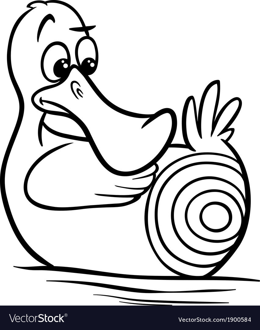 Sitting duck saying cartoon vector | Price: 1 Credit (USD $1)