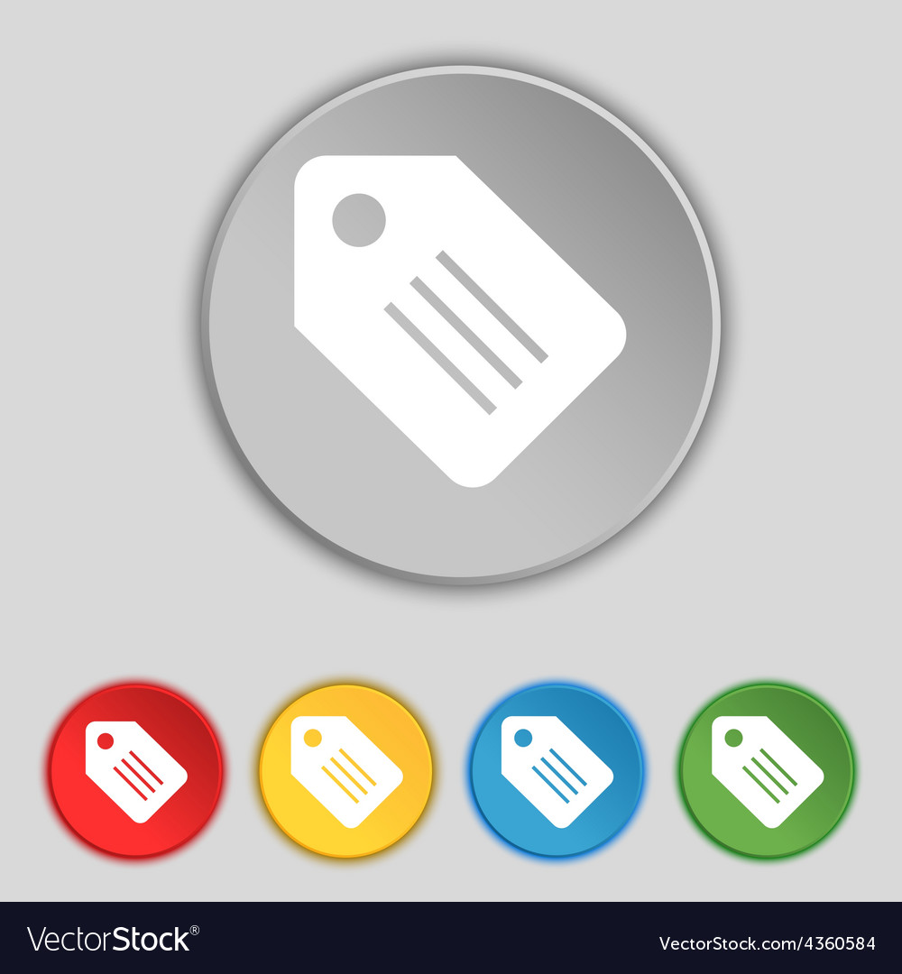 Special offer label icon sign symbol on five flat vector | Price: 1 Credit (USD $1)