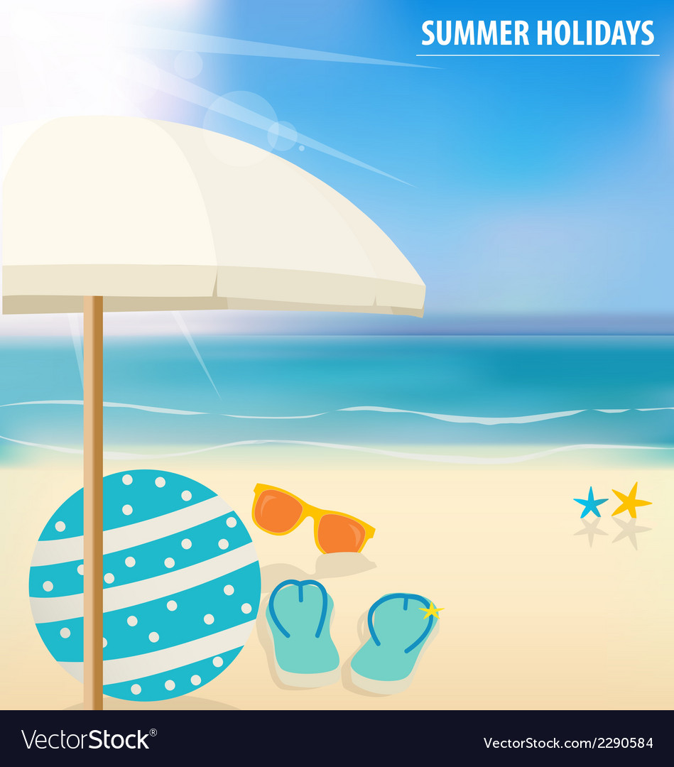 Summer holiday background vector | Price: 1 Credit (USD $1)