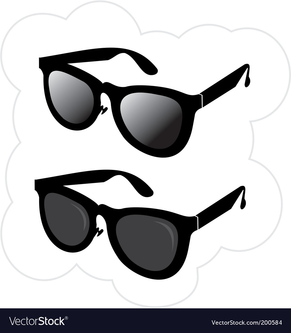 Sunglasses in the classical style vector | Price: 1 Credit (USD $1)