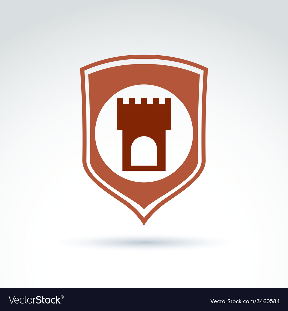 Tower emblem historical monument symbol placed on vector | Price: 1 Credit (USD $1)