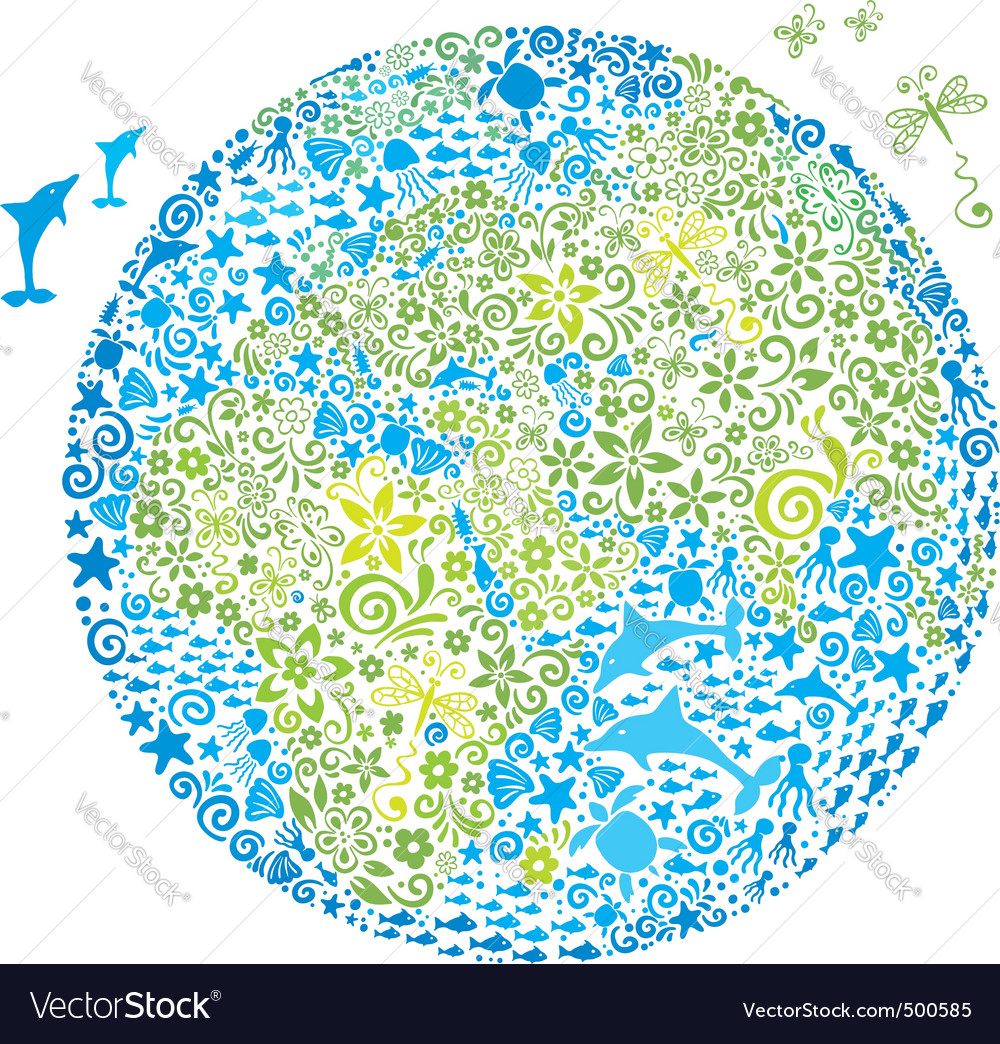 Abstract living planet vector | Price: 1 Credit (USD $1)