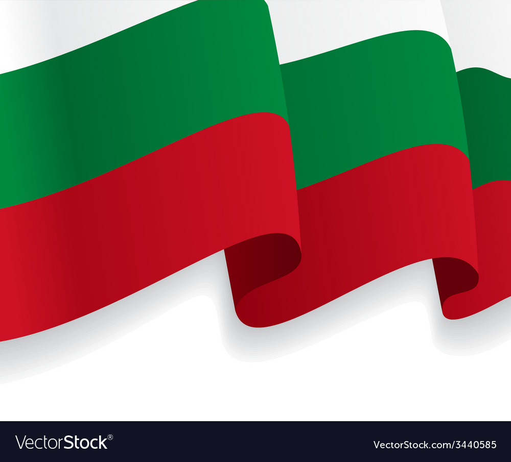 Background with waving bulgarian flag vector | Price: 1 Credit (USD $1)