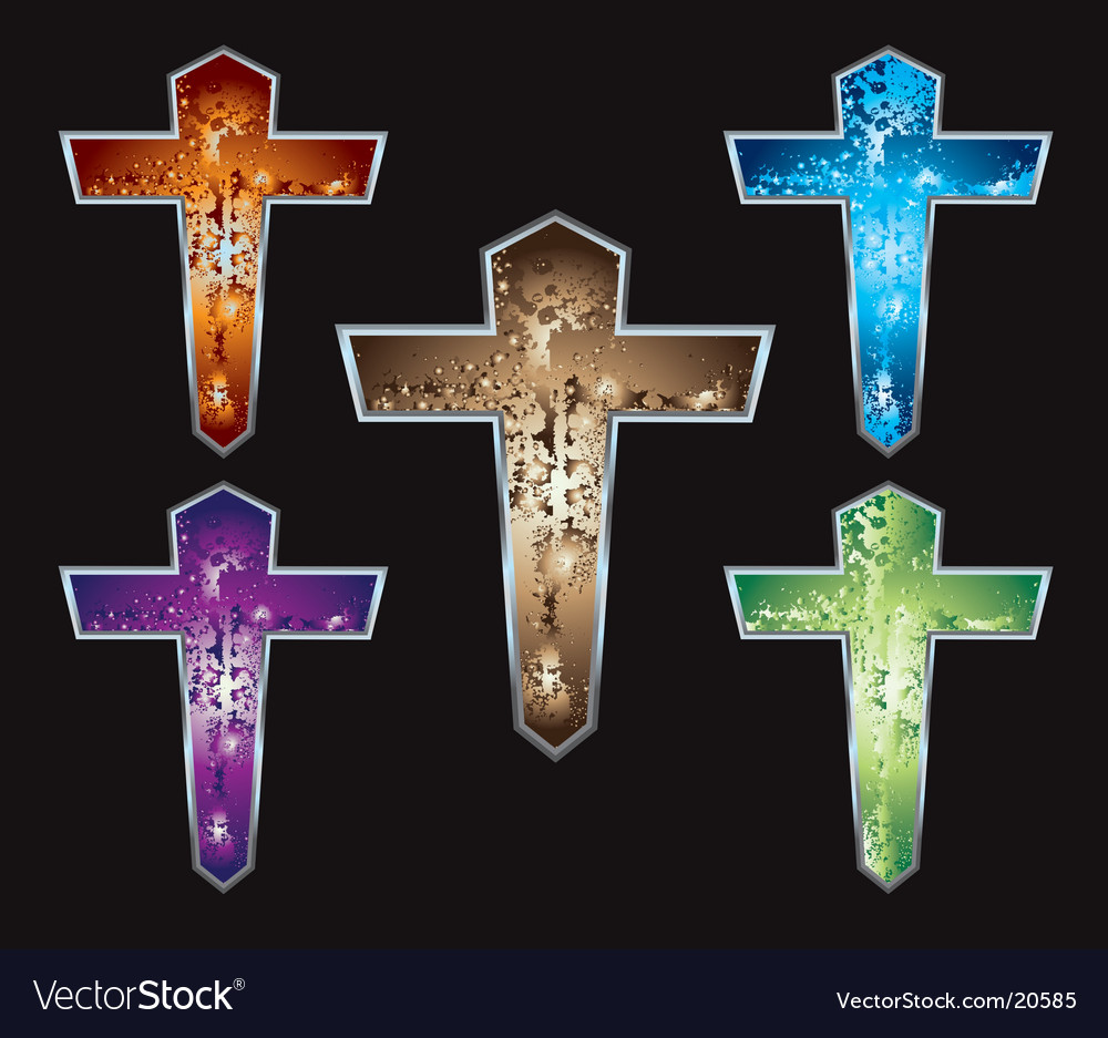 Christian crosses vector | Price: 1 Credit (USD $1)