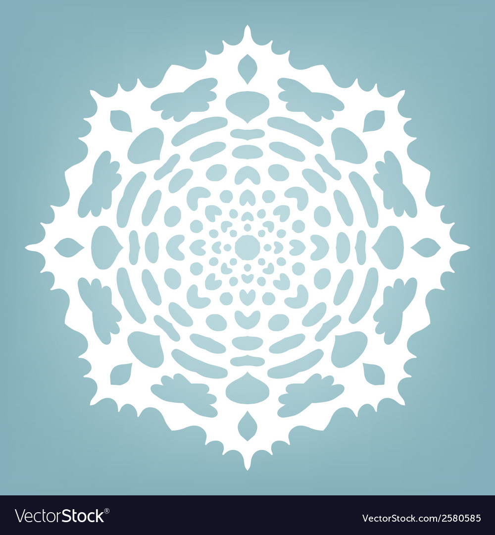 Decorative snowflake vector | Price: 1 Credit (USD $1)
