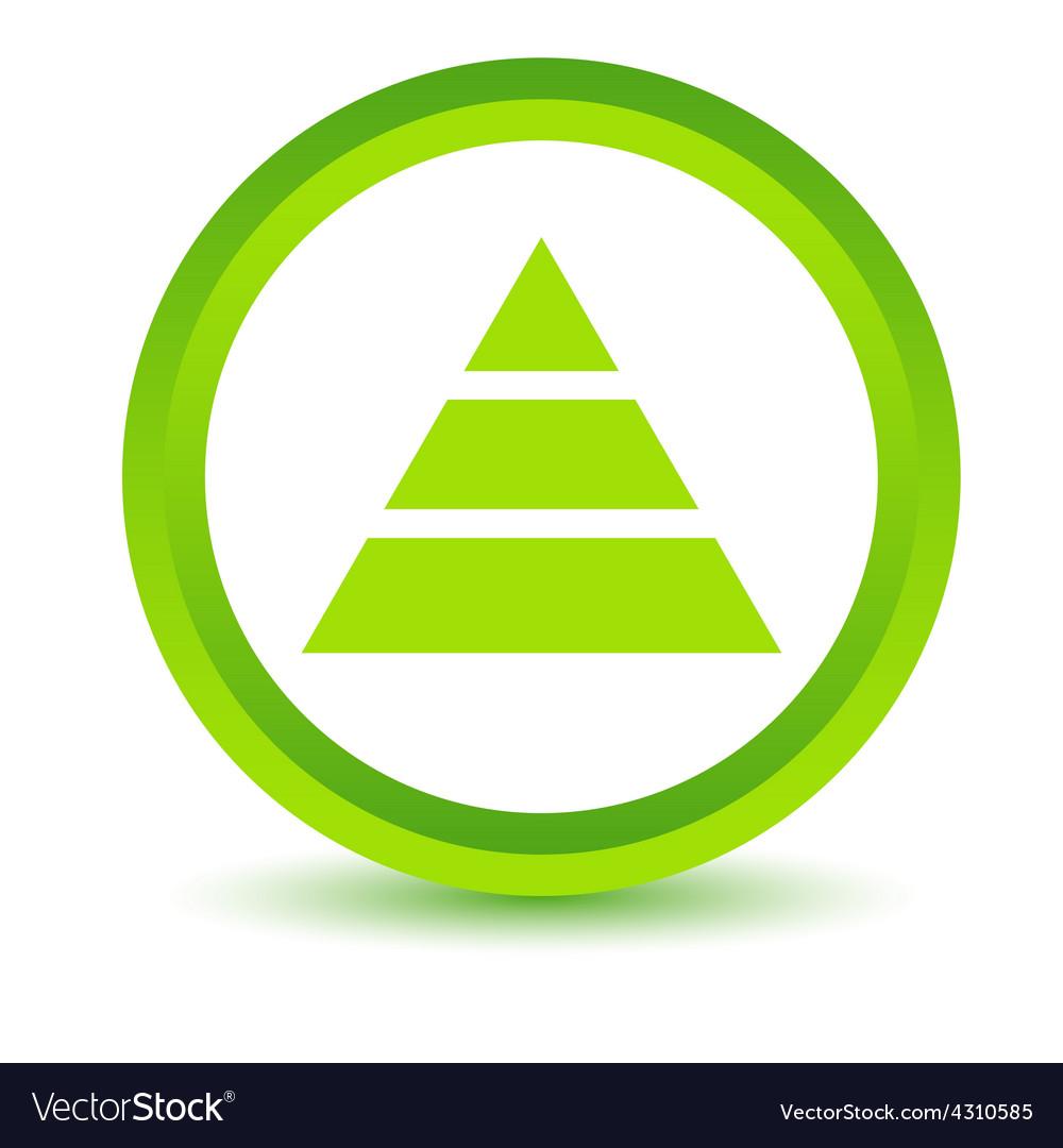 Green pyramid icon vector   Price: 1 Credit (USD $1)