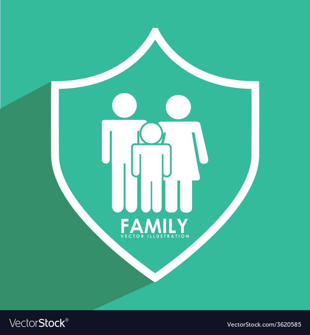 Insurance family vector | Price: 1 Credit (USD $1)
