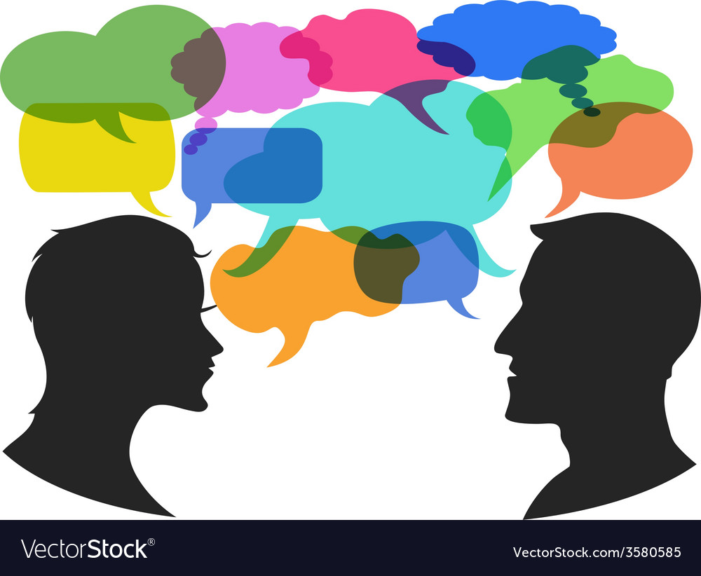Man and woman chat with speech bubbles vector