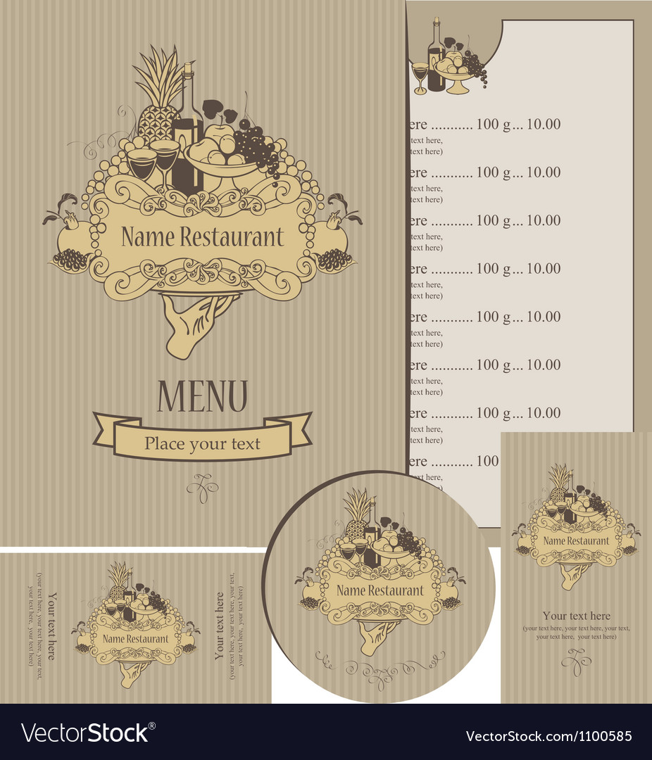 Menu expensive vector | Price: 1 Credit (USD $1)