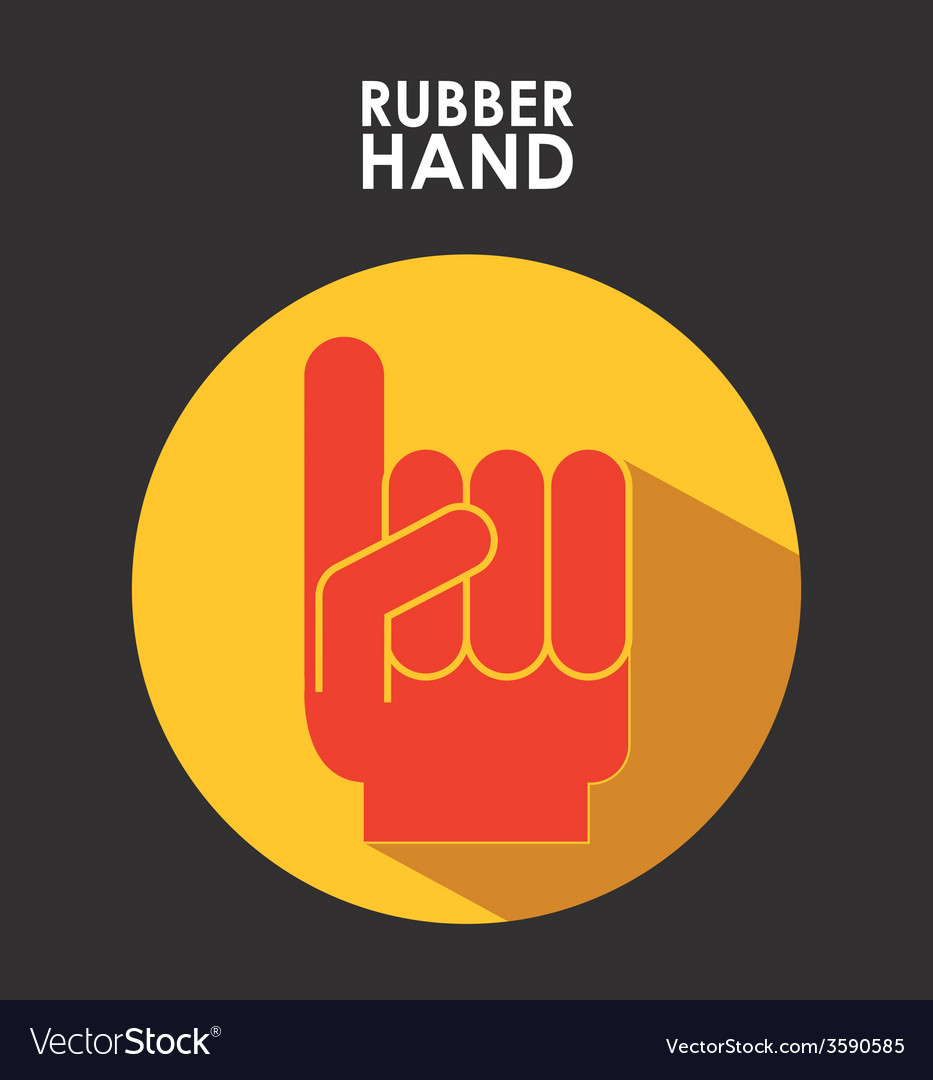 Rubber hand vector | Price: 1 Credit (USD $1)