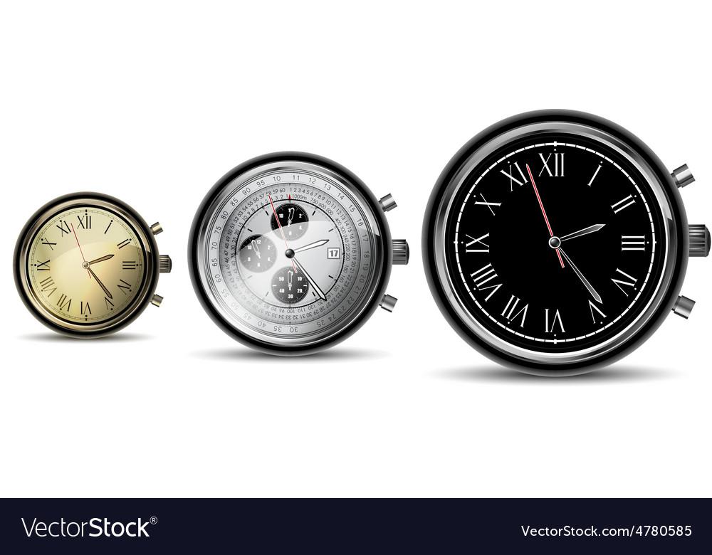Set of clocks vector | Price: 1 Credit (USD $1)