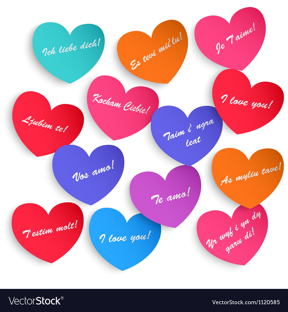 Set of paper hearts vector | Price: 1 Credit (USD $1)