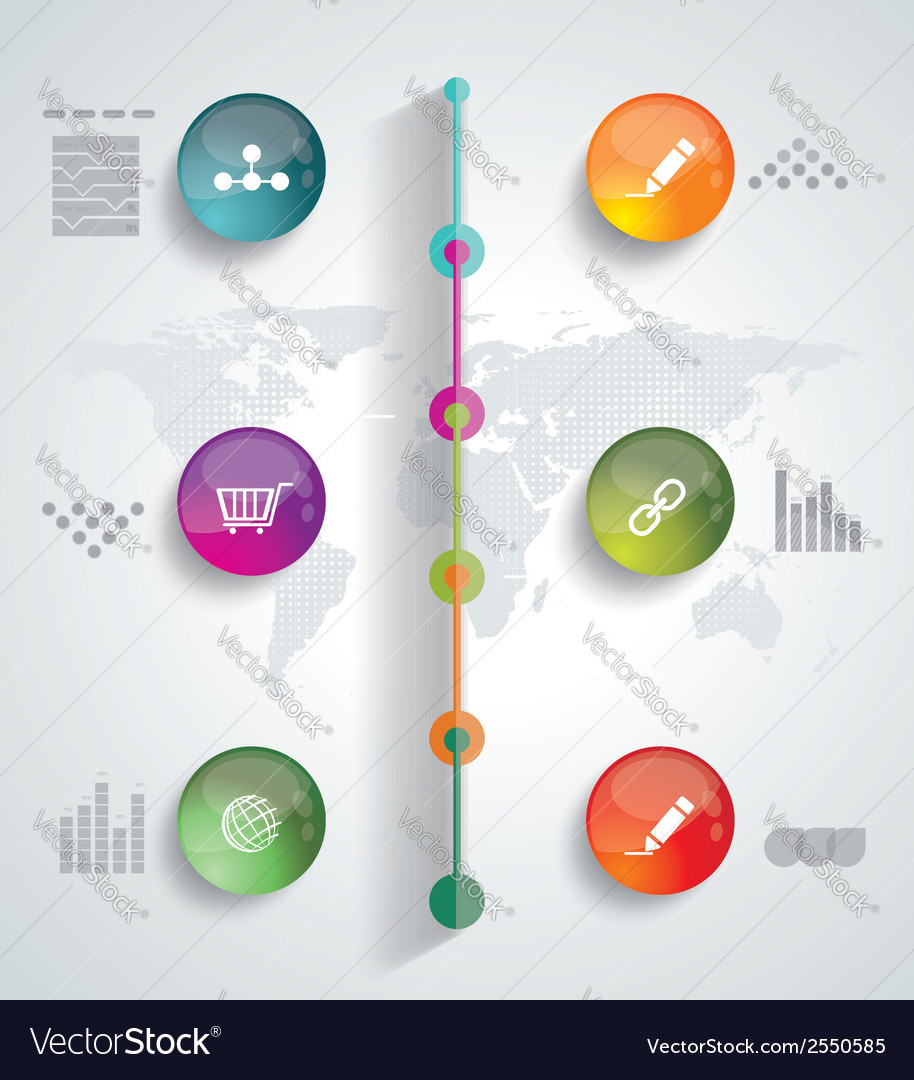 Timeline infographic design template vector | Price: 1 Credit (USD $1)