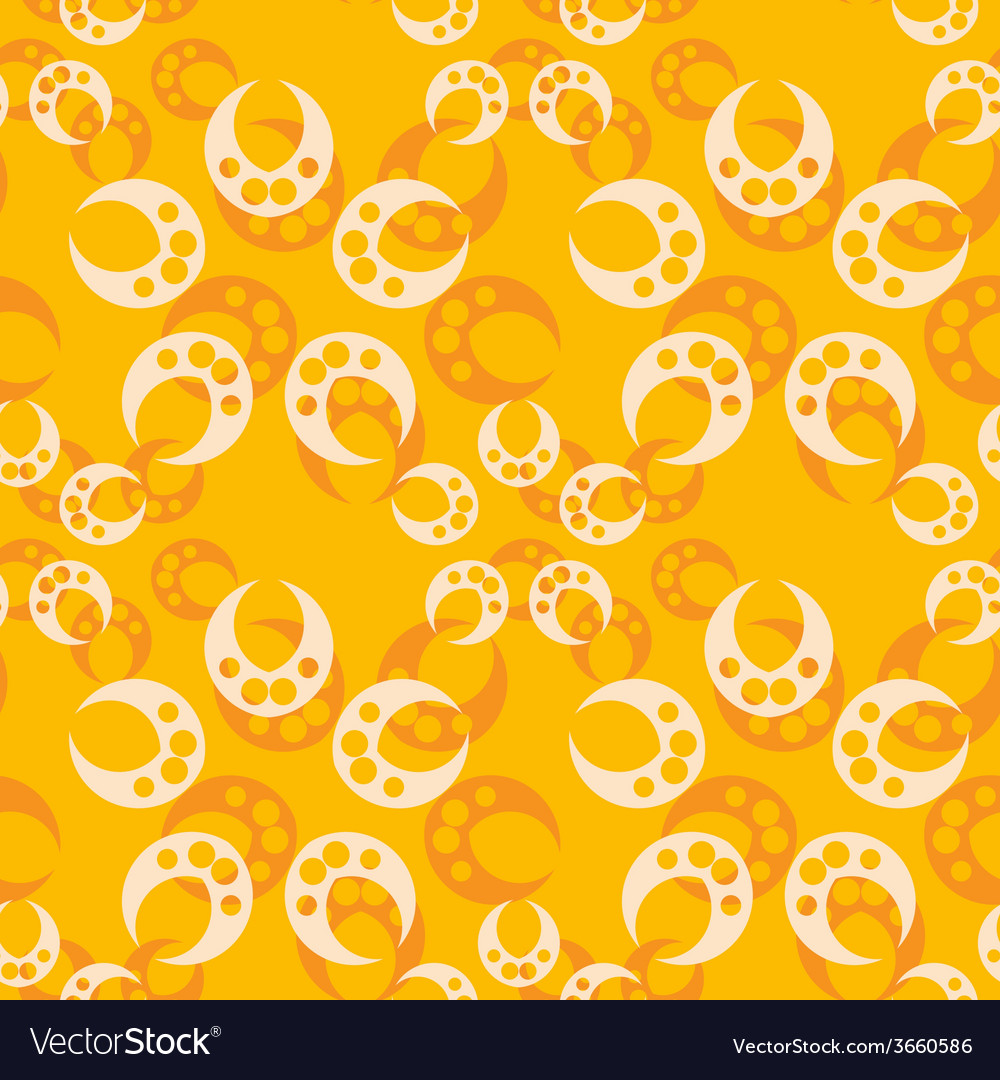 Abstract orange seamless pattern vector | Price: 1 Credit (USD $1)